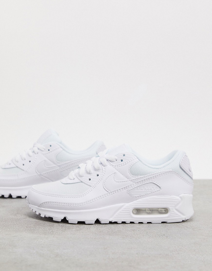 Nike Air Max 90 trainers in triple white