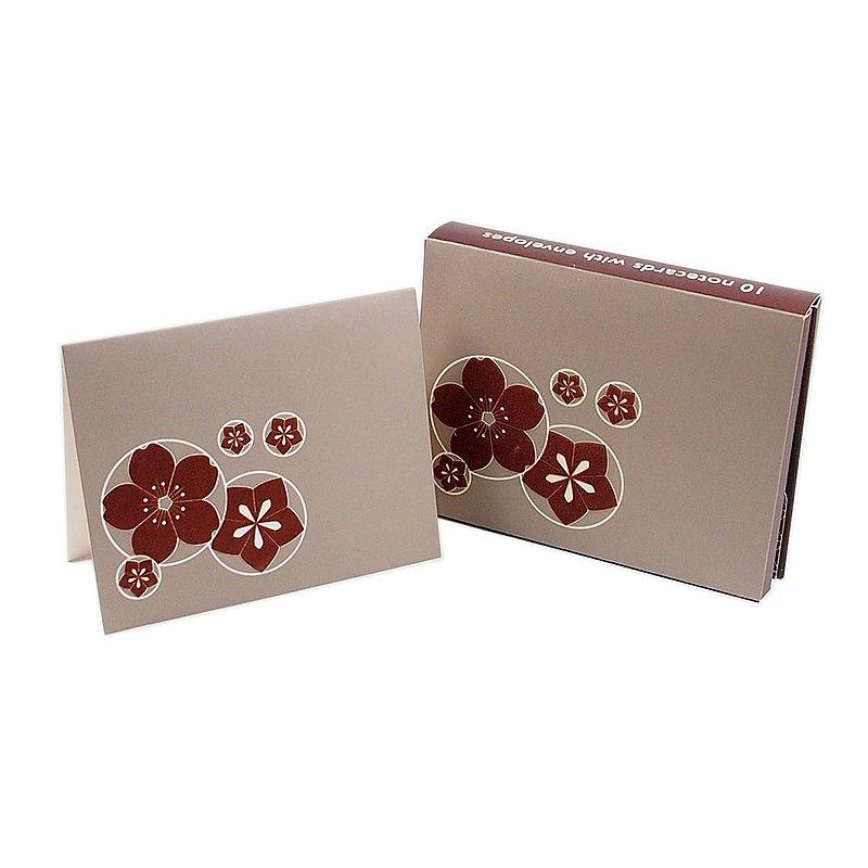 盒卡-花朵絨面10入 【Hallmark-卡片 多用途】