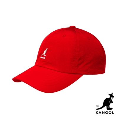 KANGOL-WR NYLON 棒球帽-紅色