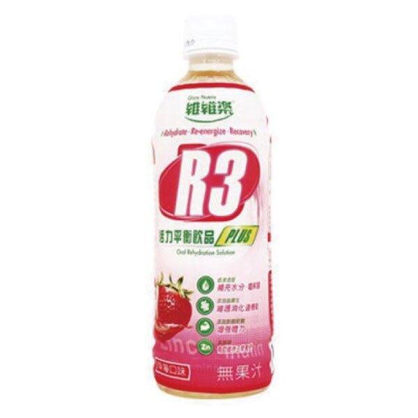 維維樂 R3活力平衡電解水Plus-草莓 (500ml/瓶)【杏一】