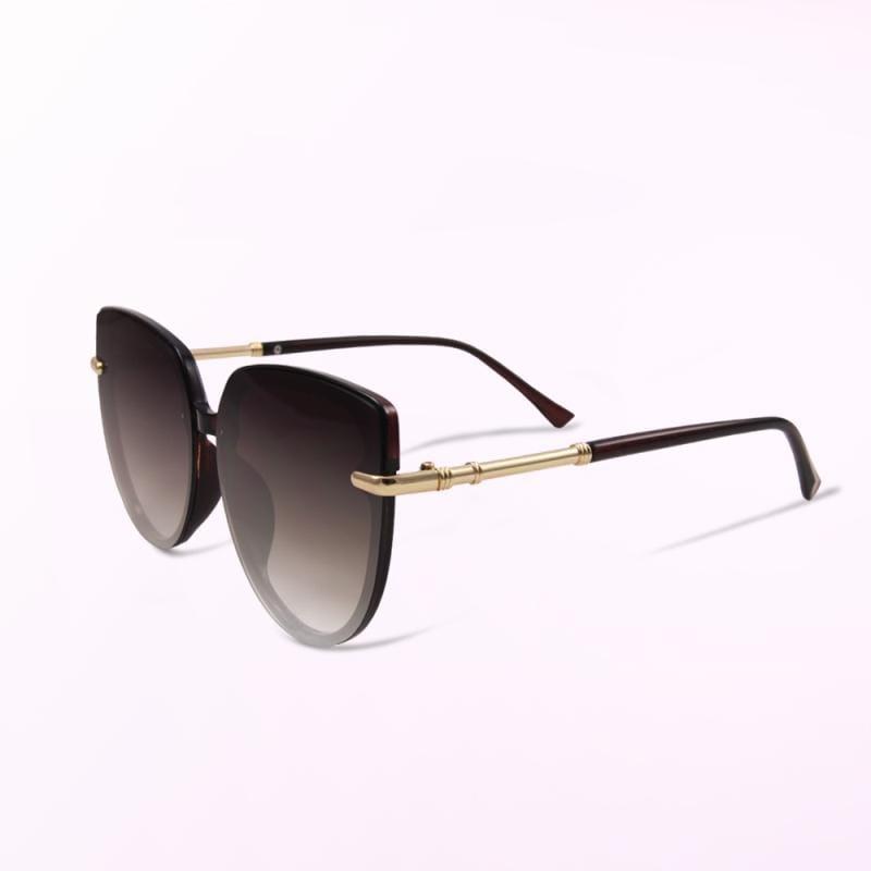 拂曉的微光奇想│ 歐美名媛時尚簡約深焙棕漸層墨鏡│UV400太陽眼鏡 深焙棕