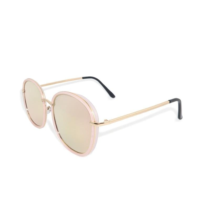 微暈少女的假期│韓流微暈粉色水銀寶麗來偏光墨鏡│UV400墨鏡