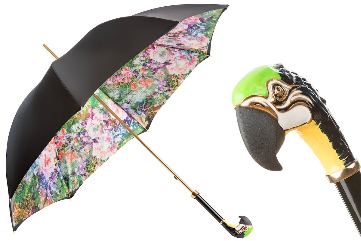 Pasotti 葩莎帝鹦鹉双层伞面手工伞