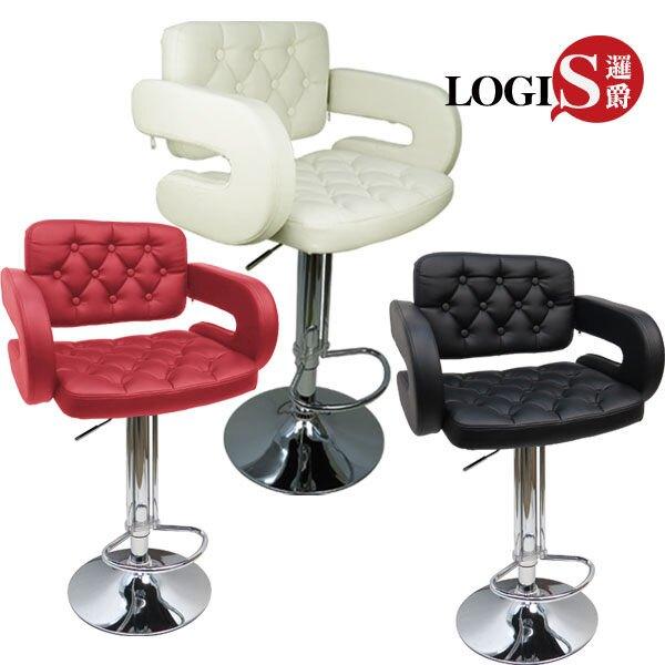 邏爵~LOG-228狄尼洛吧台椅/吧檯椅/高腳椅/皮椅 3色