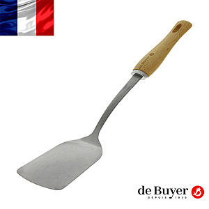 de Buyer畢耶 蜂蠟木柄系列-炒煎鏟35cm
