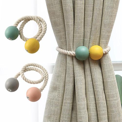 拼色窗簾磁性綁繩 窗簾扣 門簾磁扣 收納繩