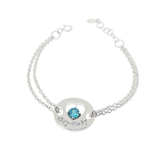 赤軍寶飾-童顏童語-甜心手鍊(寶寶手鍊)淡藍寶石