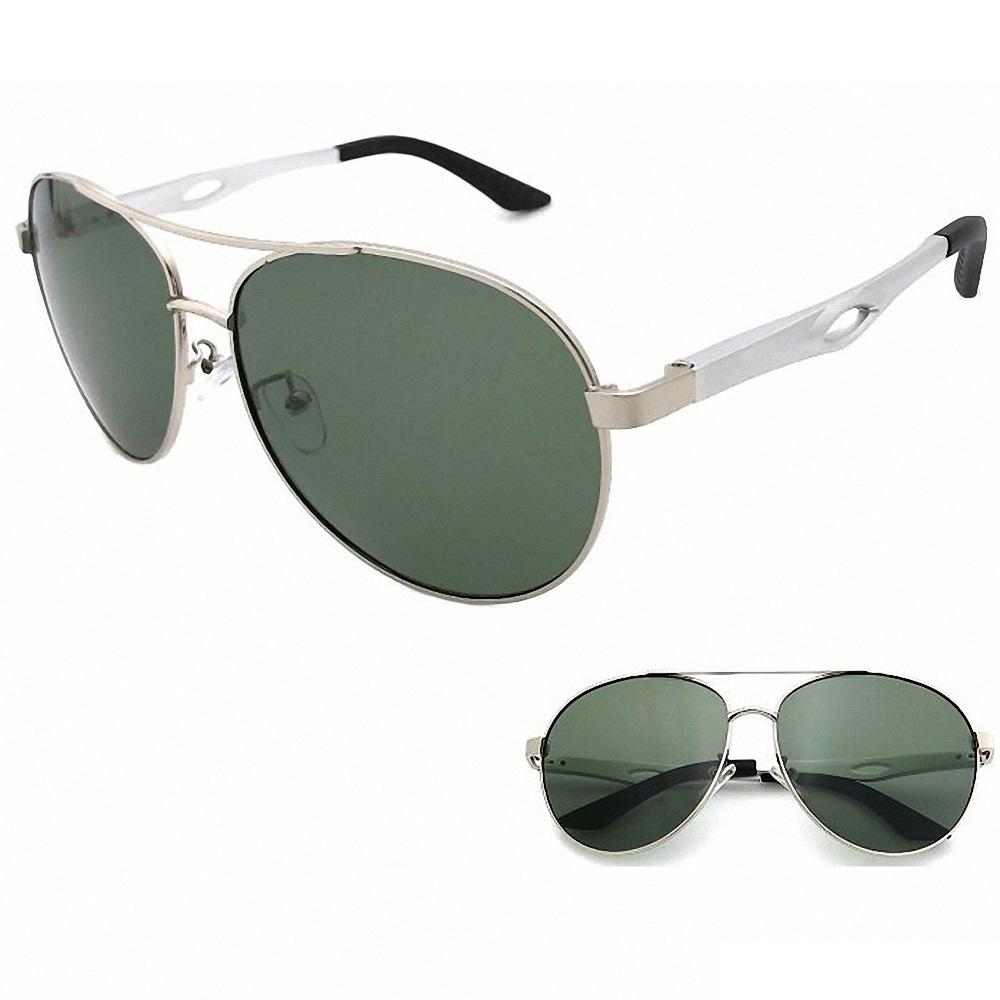 向日葵眼鏡 鋁鎂偏光太陽眼鏡 UV400 MIT 0205 銀框黑