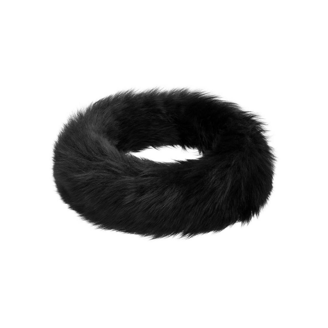 Hortons Oakley 女士羊皮头巾 - 黑色