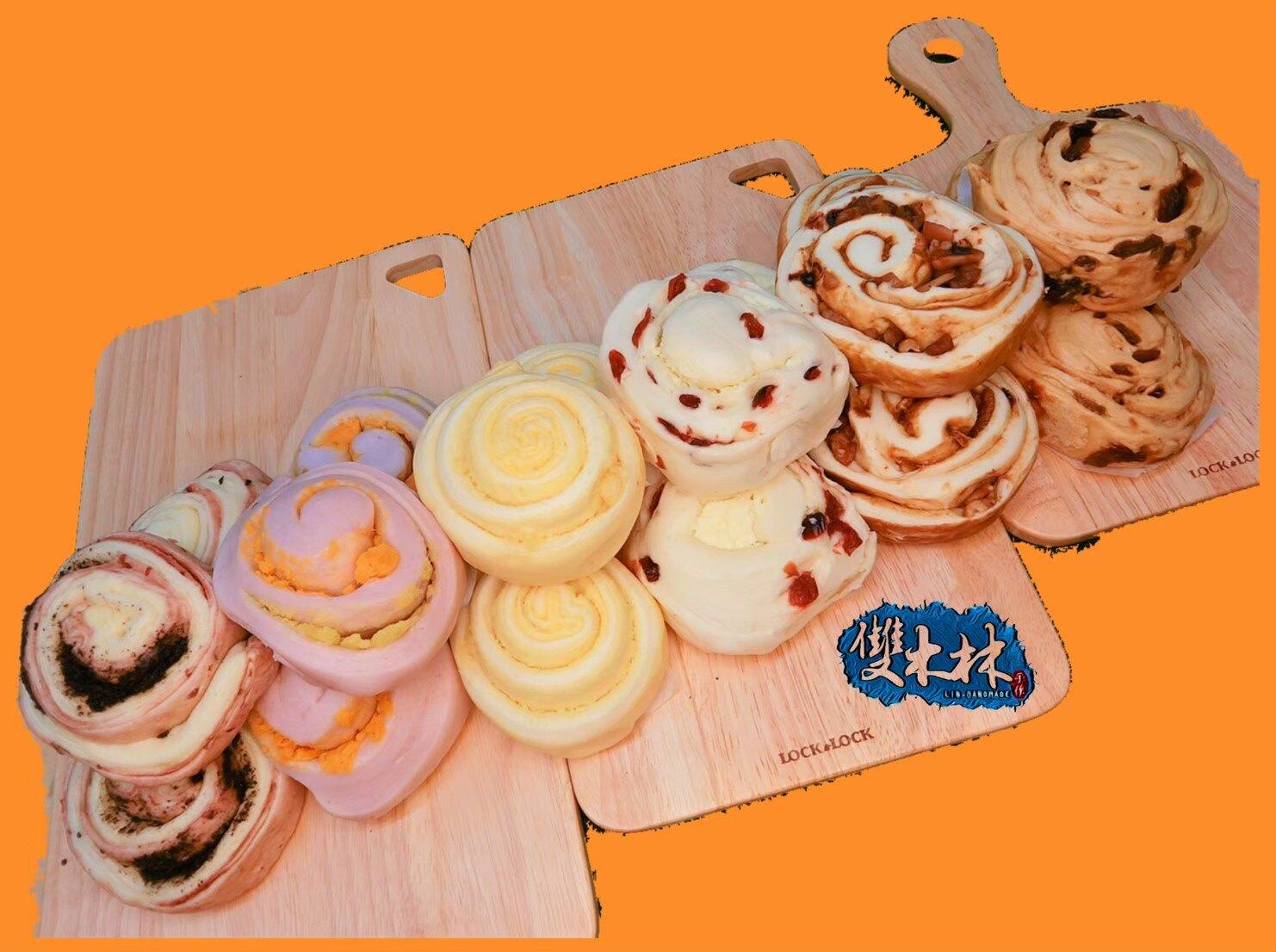 綜合小饅頭(鮮奶、黑糖、芋頭 各4入)共12入-手作饅頭 宵夜 早餐 點心