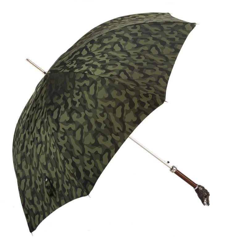 Pasotti 葩莎帝迷彩伞面鳄鱼头手柄手工伞