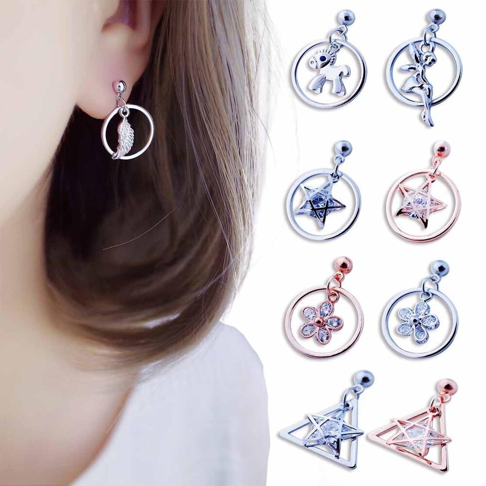 韓國九款針夾小幾何系列 針式 夾式 耳環 bonjouracc