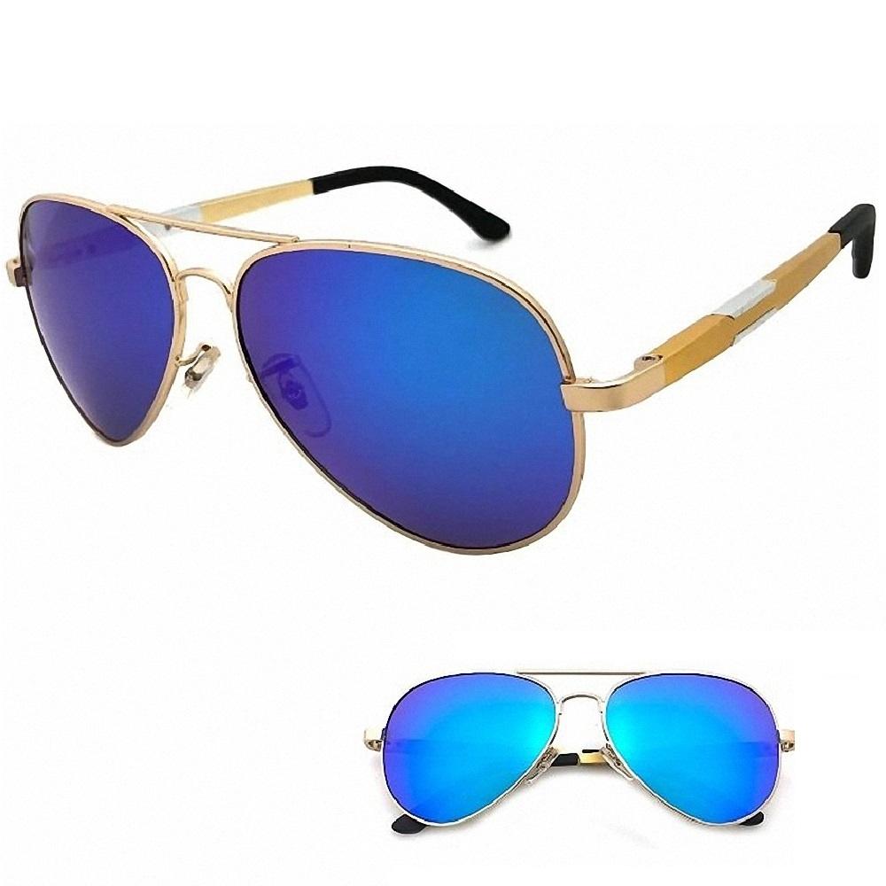 向日葵眼鏡 鋁鎂偏光太陽眼鏡 UV400 MIT 320226 金框藍