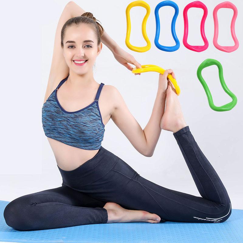 瑜珈魔力環 瑜伽圈 瑜伽環 拉伸環 健身環 普拉提圈環 (顏色隨機出貨)