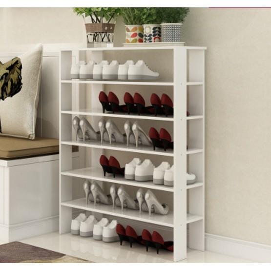 一件免運 宜家簡易大容量鞋架 多層簡約現代經濟型 家用收納架加厚小鞋櫃 - 6層