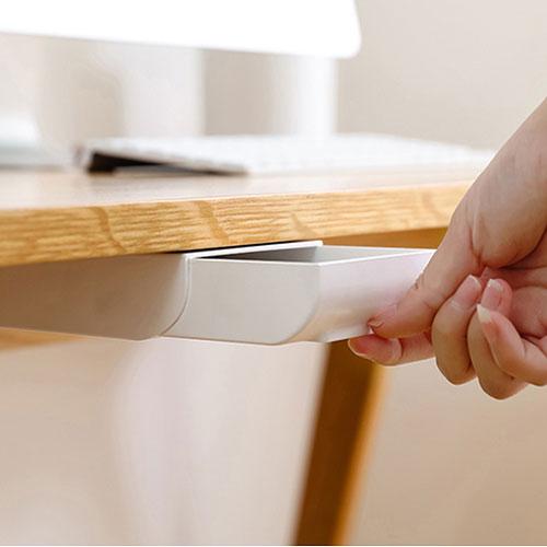創意桌面隱藏式小抽屜 桌下筆盒筆筒收納盒