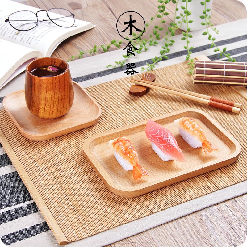 日式木質托盤 木盤 木製碟子長方形