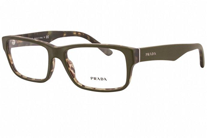 普拉达 Prada 眼镜框 - Green/Tortoiseshell - Size 53