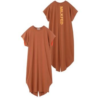 NEON SLEEVE BACK SLIT DRESS