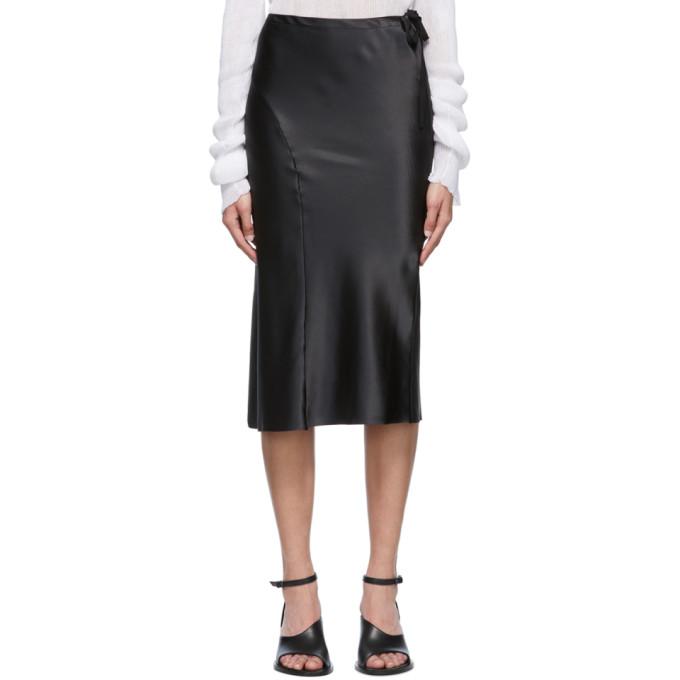 Ann Demeulemeester 黑色罗缎半身裙