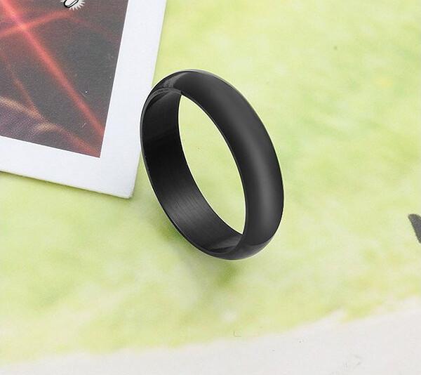 簡約弧形素面白鋼戒指 一對價-bcs111