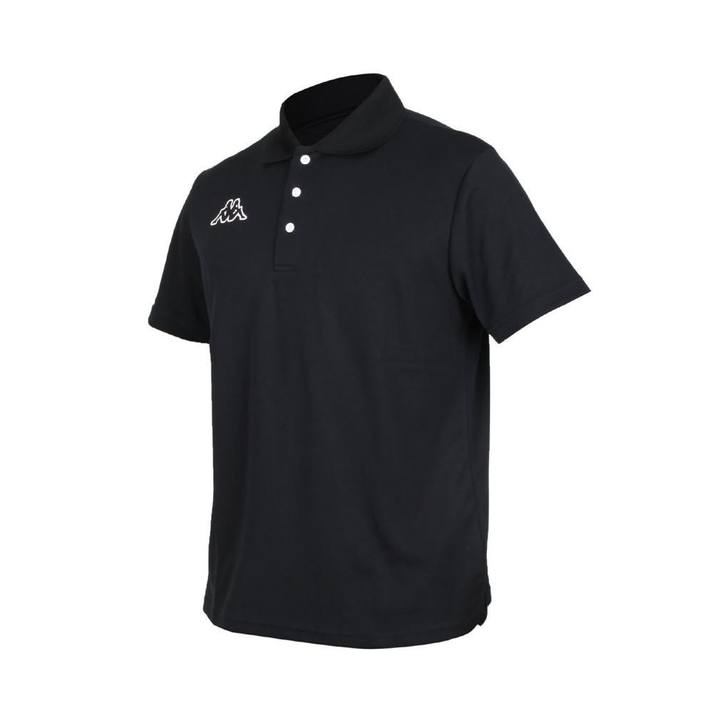 kappa 男短袖polo衫-台灣製 高爾夫 吸濕排汗 網球 羽球 上衣 黑白