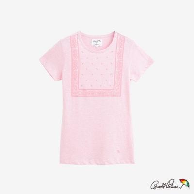 Arnold Palmer-女裝-前片印花短袖T-粉