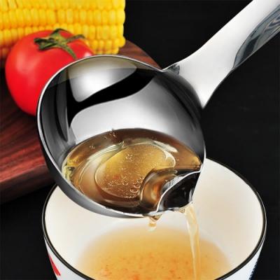 【佳工坊】304不鏽鋼廚房兩用濾渣減油脂濾油勺