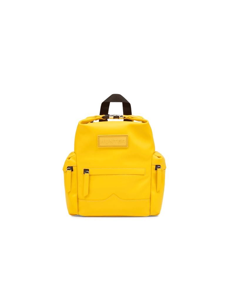 Original Mini-rucksack Aus Gummiertem Leder Mit Klippverschluss