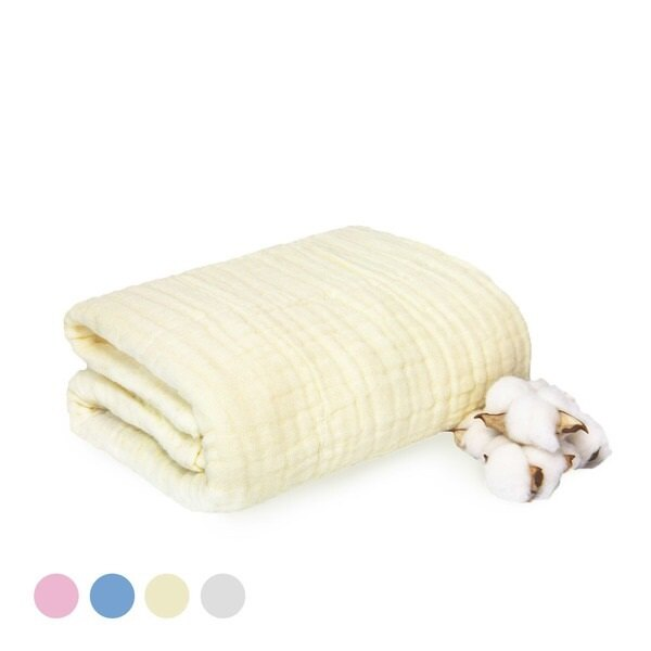 L'Ange 棉之境 6層純棉紗布浴巾蓋毯 70x95cm(白色/藍色/粉色/黃色)★衛立兒生活館★
