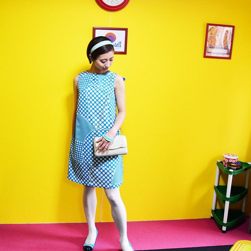 復古一件式連衣裙christiane的數量有限