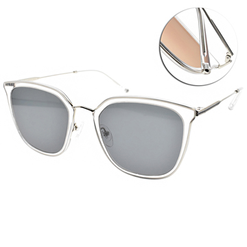CARIN太陽眼鏡  迷人簡約蝶形款 (透明-銀-藍鏡片) #O'NEILL MORE C2