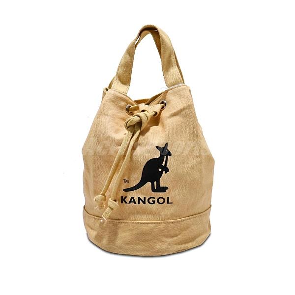 Kangol 托特包 Tote Bag 卡其 黑 奶茶色 女款 袋鼠 抽繩設計 水桶包 側背包【ACS】 6925300730