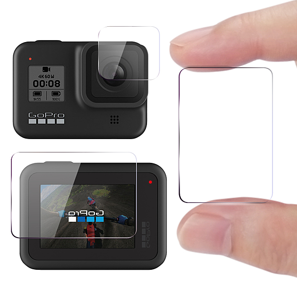 CITY for GoPro HERO8 BLACK 相機鏡頭+觸控螢幕保護貼精美盒裝- 2入