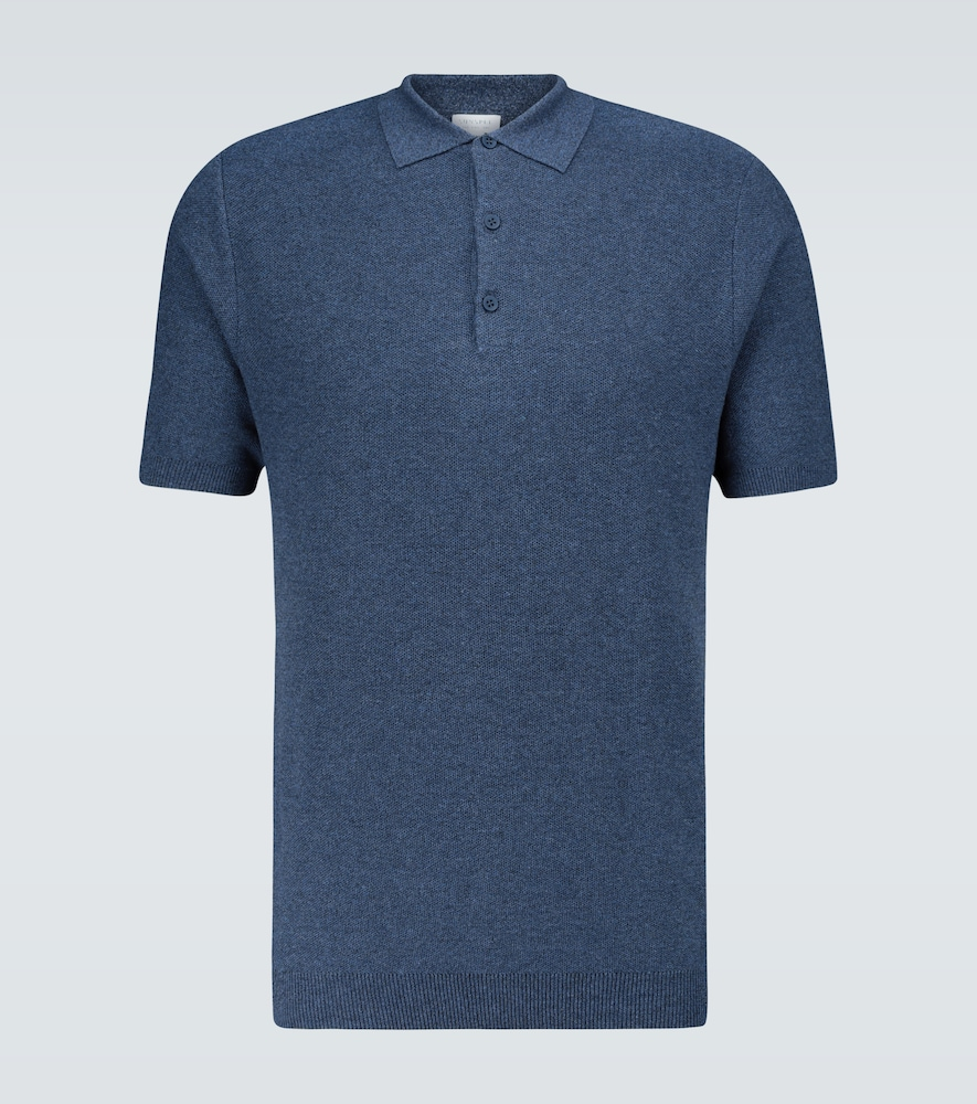 Fine Texture knitted polo shirt