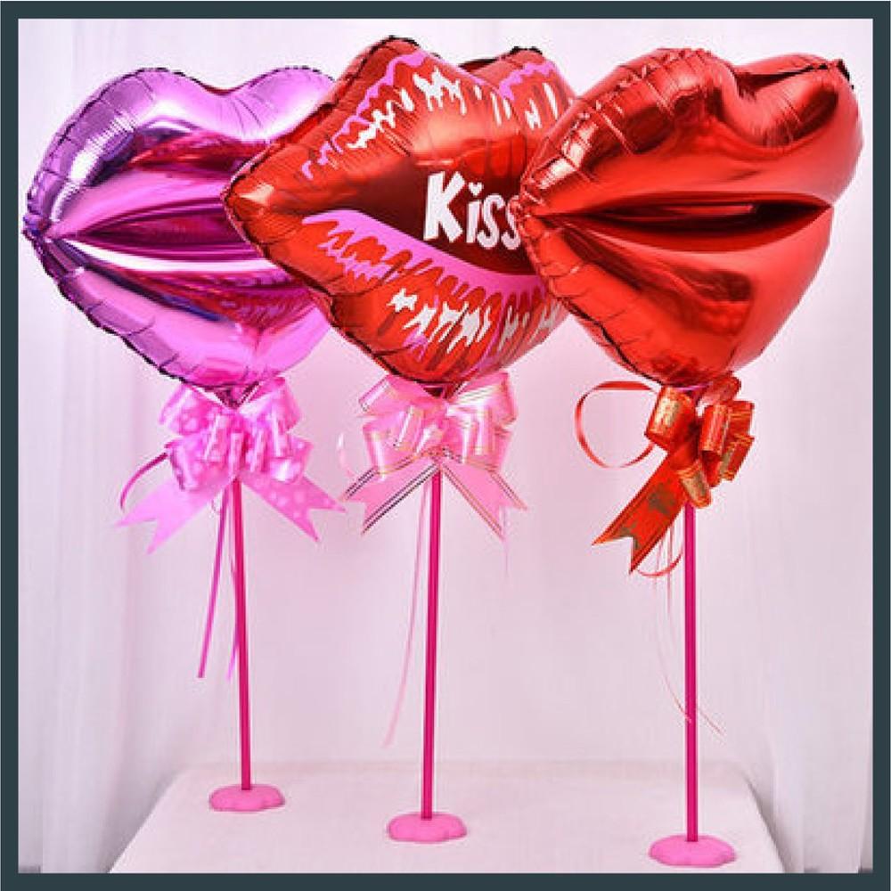 現貨18吋 嘴唇 紅唇印 情人節 生日氣球 會場佈置 造型鋁箔 告白 婚紗外拍 氣球快易送