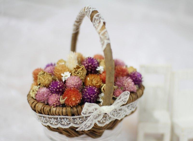 【圓滿祝福】-永生花/乾燥花/珠寶捧花/婚禮捧花花束/花禮