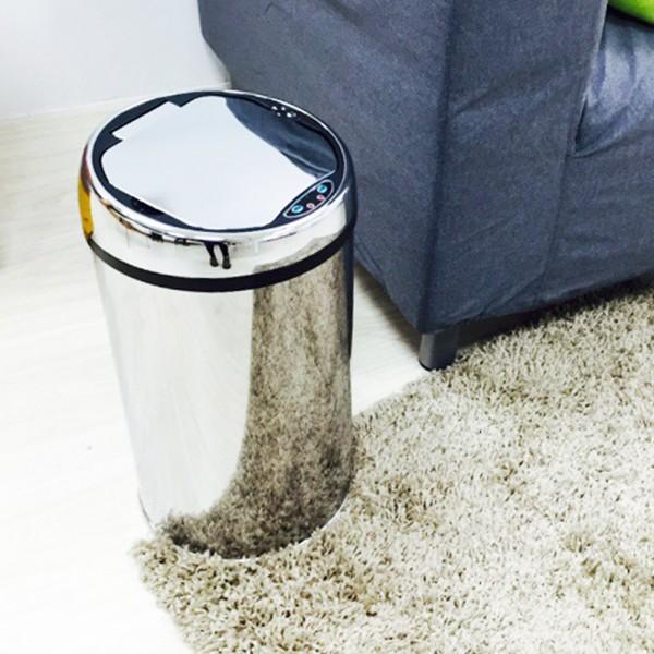 【H&R安室家】不鏽鋼智能感應式垃圾桶-12L-PB...