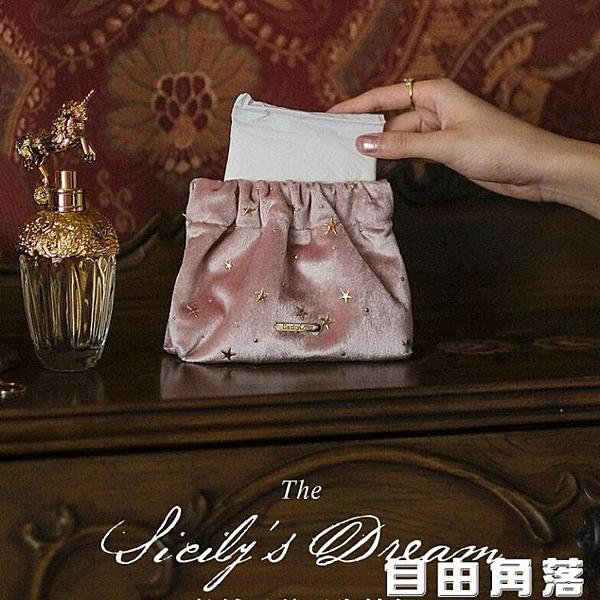EACHY 化妝包網紅大容量化妝品收納包女小號隨身便攜式零錢袋 自由角落