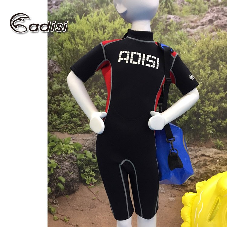 ADISI青少年款2MM連身短袖短褲防寒衣AR1511167/(潛水.衝浪.溯溪.水母衣)