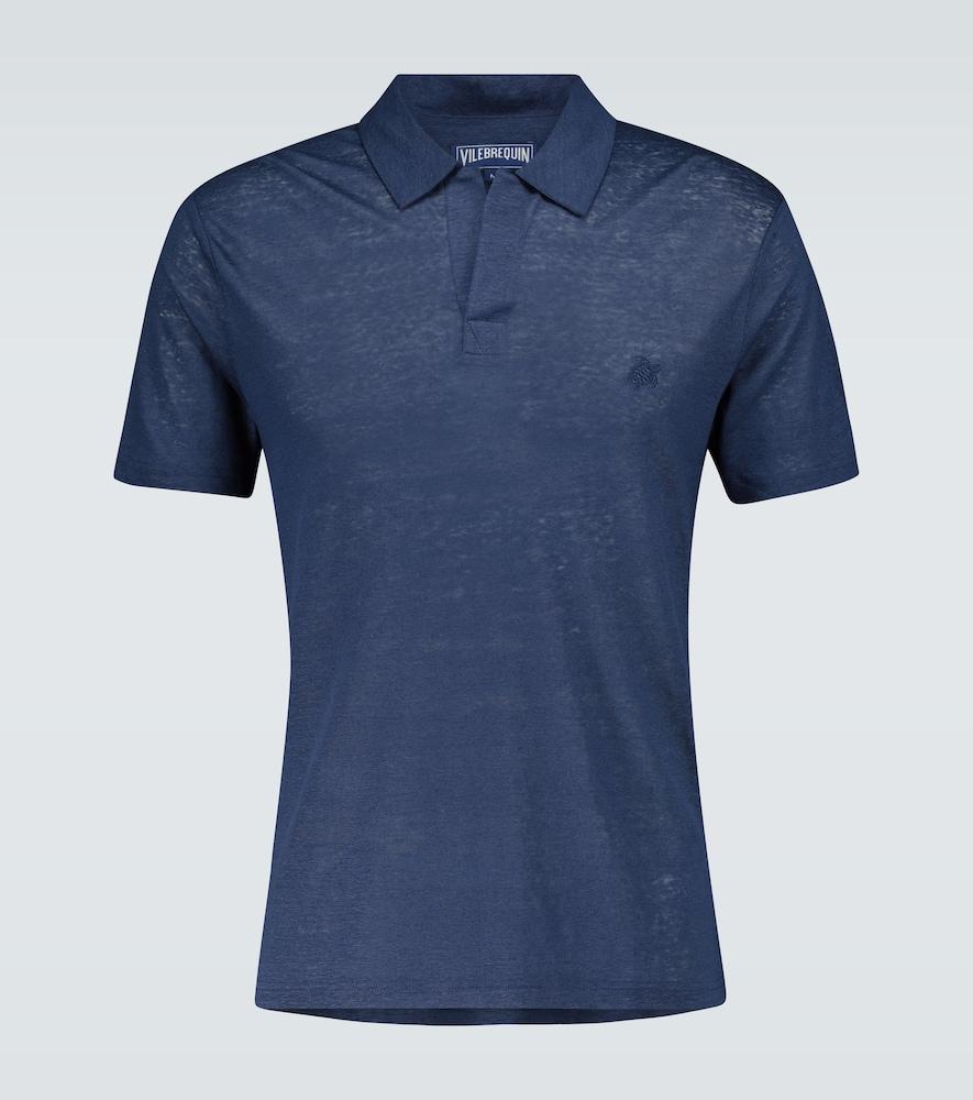 Pyramid linen polo shirt