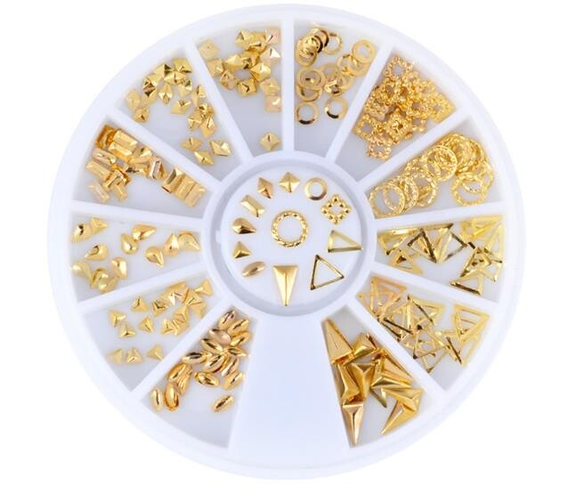 美甲 迷你米粒三角圓形 31號  飾品 飾品尖三角水滴合金大鑽 超閃  p1-25