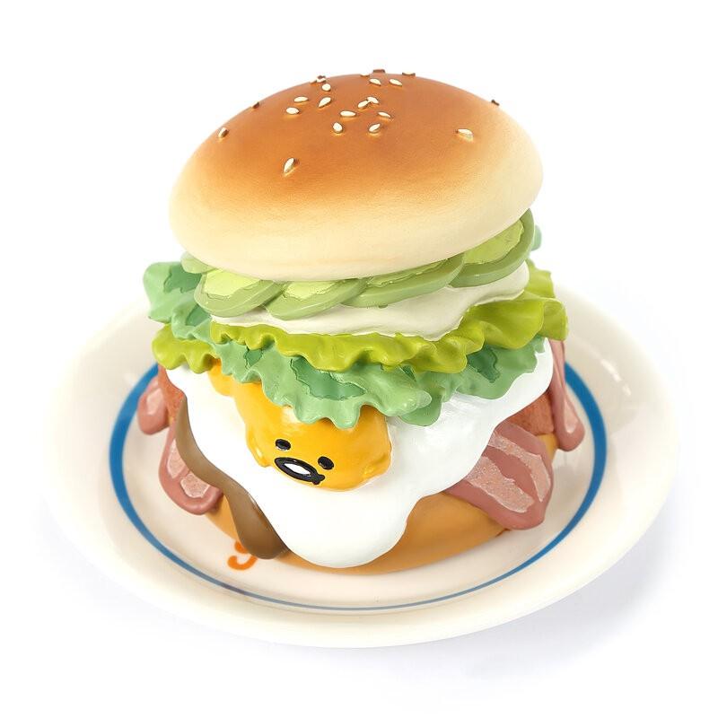 三麗歐 蛋黃哥-Gudetama元氣漢堡 音樂盒 可1元加購價值200元的專屬客製化愛心吊牌