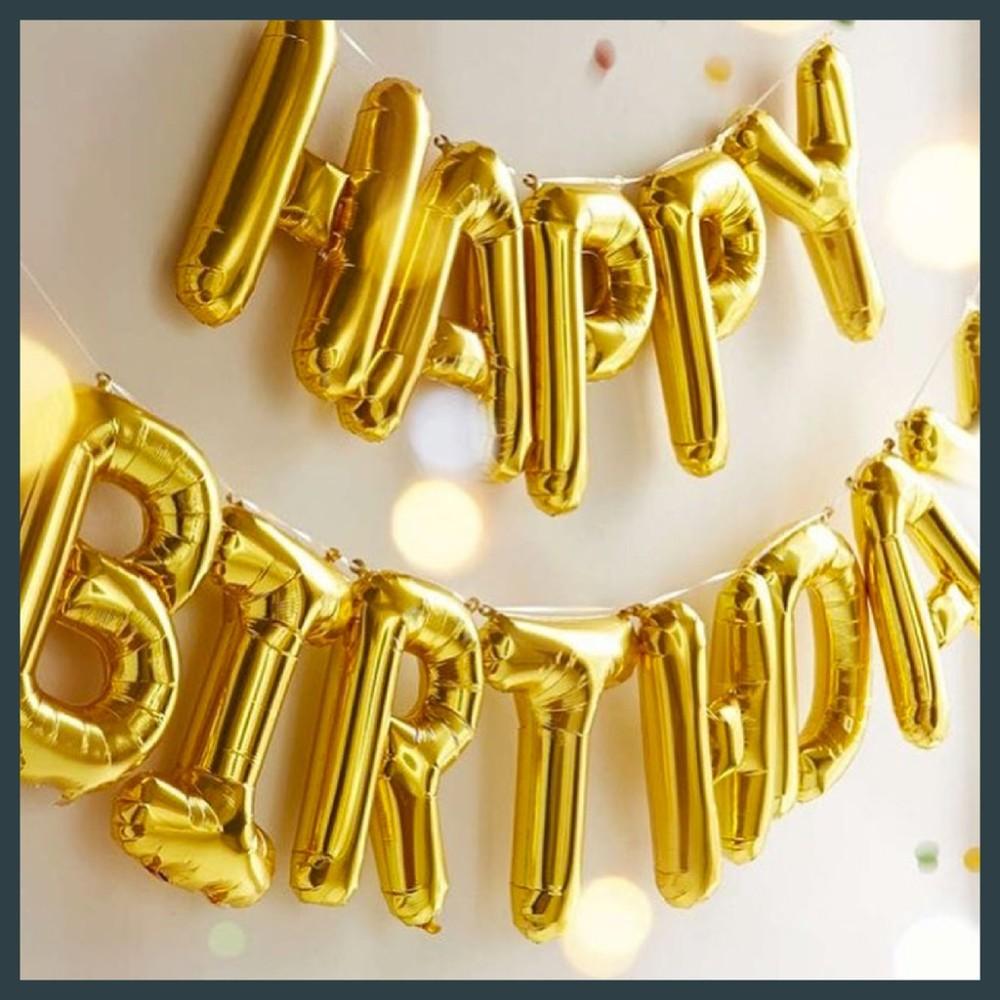 現貨16吋 金色 英文 字母 拼字 a~z 慶生 結婚 告白  畢業  舞會 求婚氣球快易送