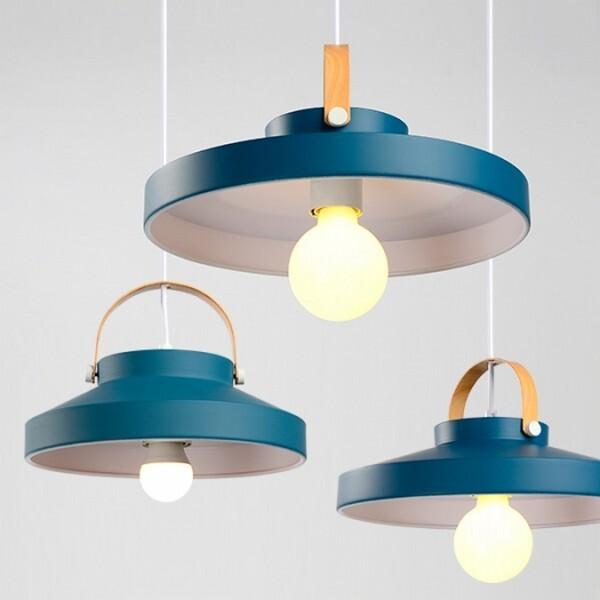 18park-拉提莎吊燈-7色 [藍色,小款]-含燈泡組合(5w*1)