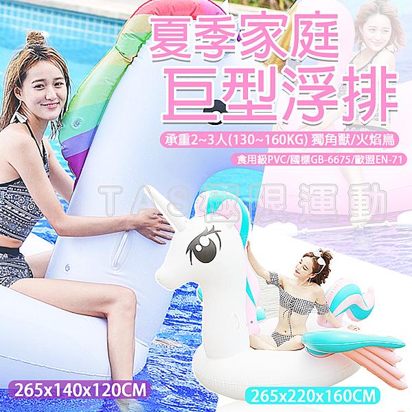 【TAS】彩虹馬 泳圈 坐騎 造型泳圈 天鵝 鶴 火焰鳥 獨角獸 浮排 D00388 D00389