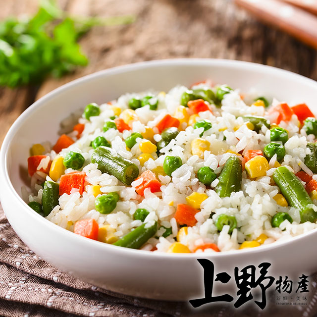 【上野物產】冷凍蔬菜 三色豆 (1000g土10%/包) x4包