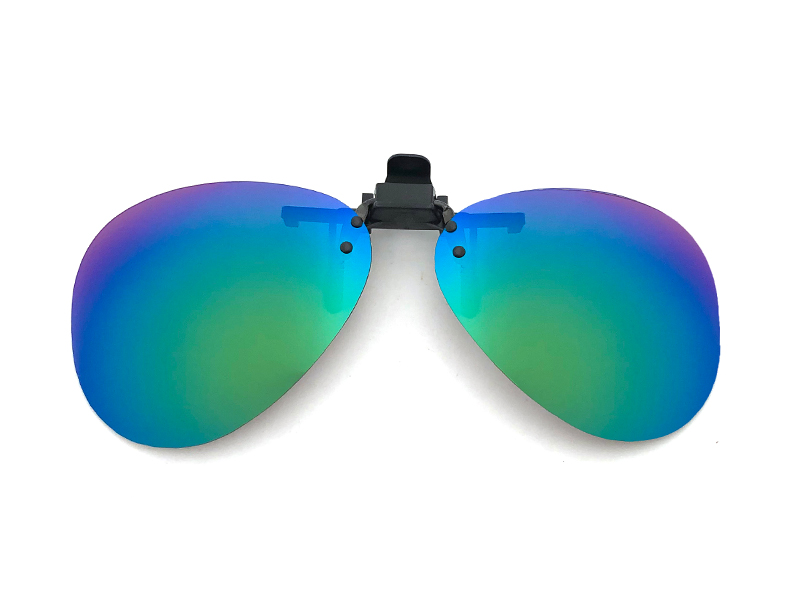向日葵眼鏡 偏光夾片 防眩光 近視族專用 水滴型 綠水銀
