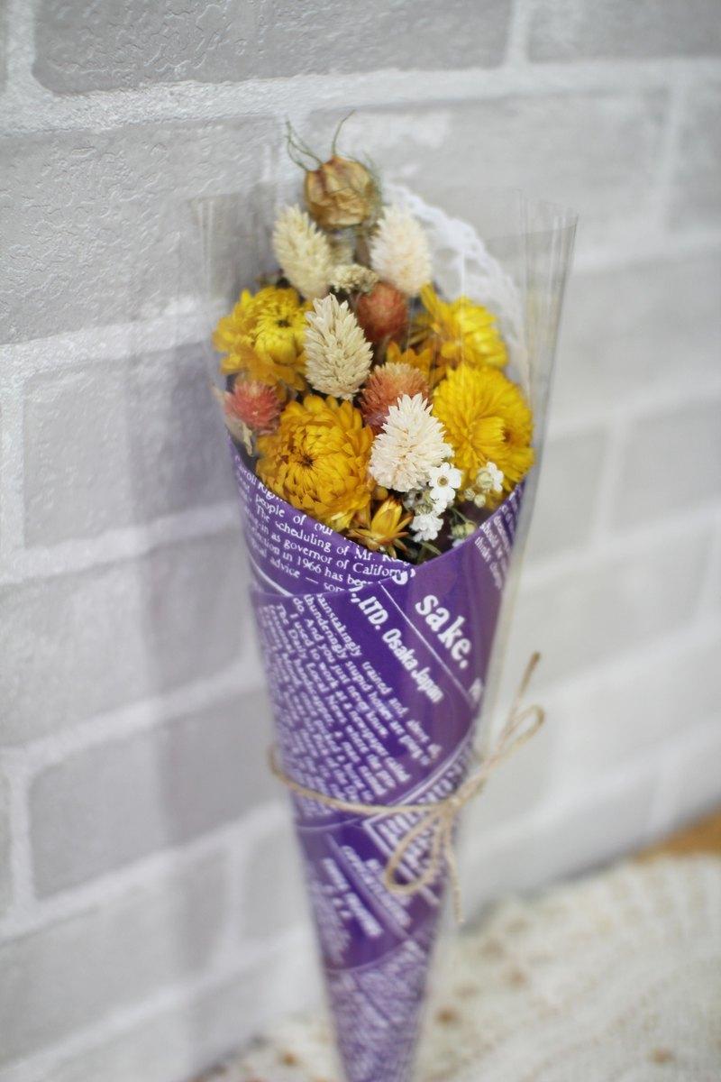 【麥稈菊乾燥小花束】-永生花/乾燥花/珠寶捧花/婚禮捧花花束/花禮