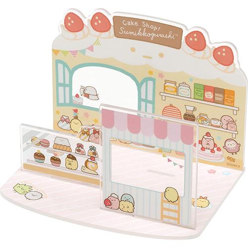 San-X 角落生物 沙包玩偶壓克力造型場景配件 家家酒玩具 角落小夥伴 糕點店 粉